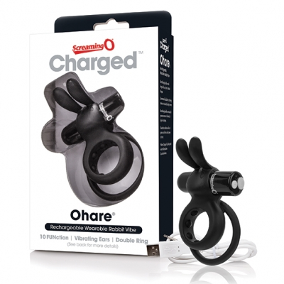 The Screaming O - Charged Ohare Rabbit Vibe Zwart